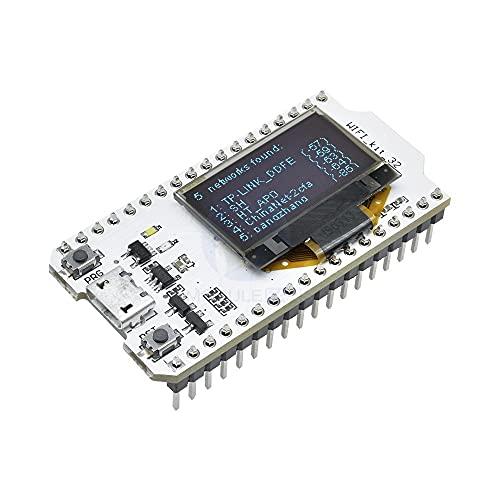 XTVTX ESP32 Placa de desarrollo versión actualizada 8 MB Flash, ESP32 WiFi Bluetooth, ESP32 OLED 0.96 pulgadas pantalla OLED CP2102 Internet para Ar Duino ESP8266 NodeMCU