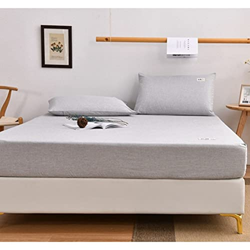 HAIBA Juego de sábanas de bolsillo extra profundas, sábana elástica, funda de colchón de microfibra cepillada, 200 x 220 cm + 25 cm