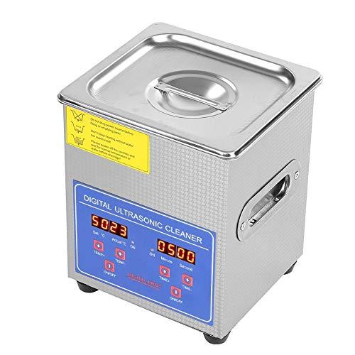 Limpiador por ultrasonidos, 2 L, acero inoxidable, digital, baño por ultrasonidos, con calefacción, calentador de baño, temporizador 220 V