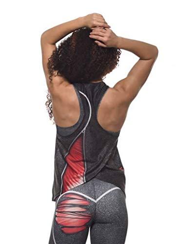 Excess Camiseta Deportiva Mujer Músculo Tank Top Tirantes Fitness Yoga Pilates Running...