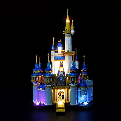 HYMAN Kit di illuminazione a LED Luci Decorazione per Mini-castello Disney, Compatibile con Lego 40478 (Modello Lego non incluso)