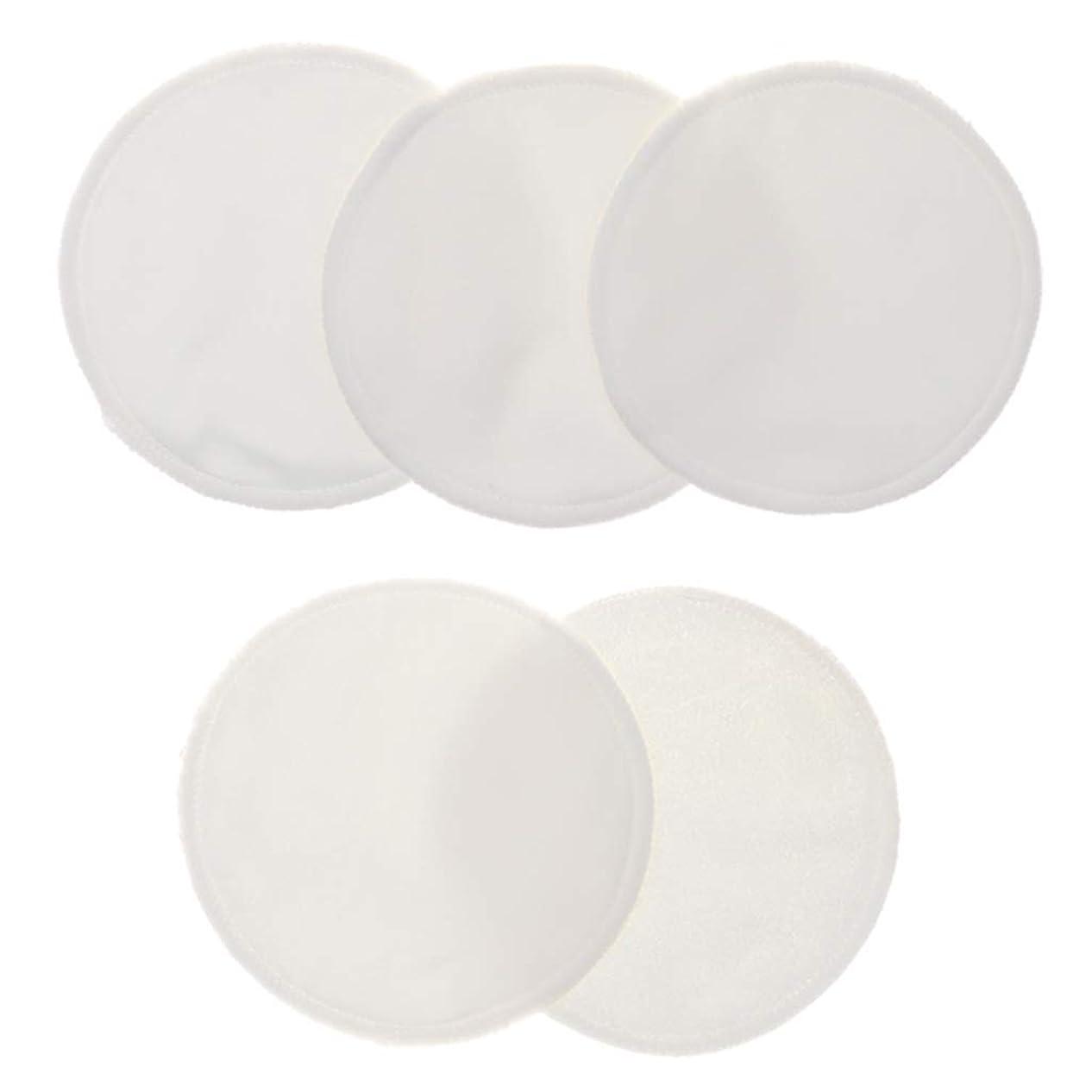 国民調整あえぎCUTICATE 5個 クレンジングシート 胸パッド 化粧用 竹繊維 円形 12cm 洗える 再使用可能 耐久性 全5色 - 白