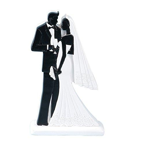 Club Green Résine 2D Noir mariée et marié Debout, Noir, 100 x 40 x 180 mm