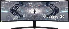 Samsung Odyssey G9 (C49G93TSSU) 124 cm (49 Zoll) 240Hz Gaming Monitor (5.120 x 1.440 Pixel, 1ms, QLED, DQHD, 1000R, Dual Monitor, HDR, G-Sync kompatibel, ultra wide) weiß - Amazon Exclusive©Amazon