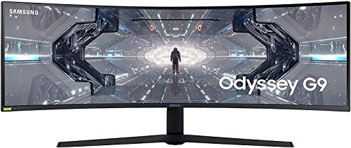 Samsung LC49G93TSSRXEN - Monitor Curvo de Odyssey G9 49'' DQHD, 5120 x 1440p, 1 ms, 240 Hz, GSync, FreeSync Premium Pro, LED, HDR1000, 32:9, 420 CD/m², 1000R, HDMI, PBP, Pip, Blanco