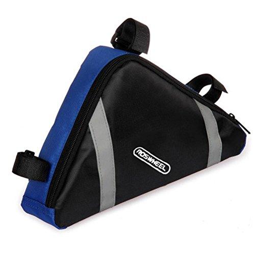 Foxnovo Fahhrrad Front Triangeltasche Dreieckstasche Rahmentasche Werkzeugtasche Satteltasche Fahrradtasche (Blau)