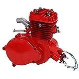 Jadpes Kit de Motor 80cc, 80CC motorizada Ciclo de 2 Tiempos Kit de Motor de Motor de Gasolina de Gas Juego Velocímetro Parte de Alto Rendimiento