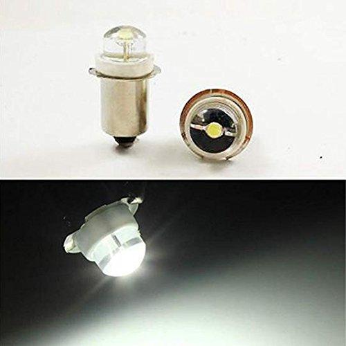 P13.5S - Bombilla LED blanca (3 V, 4,5 V, 6 V, 0,5 W, 0,75 W, 6000 K, 4 unidades)