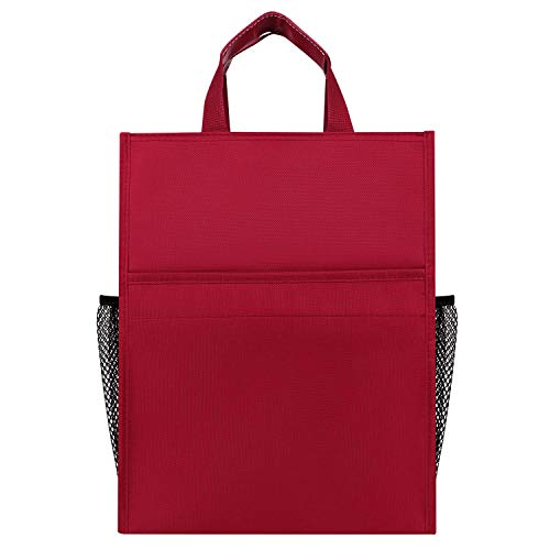 DDLONY Portable Expanding File Folder Briefcase Document Bag Office File Bag Business Conference Handbag Large Capacity Messenger Bag Storage