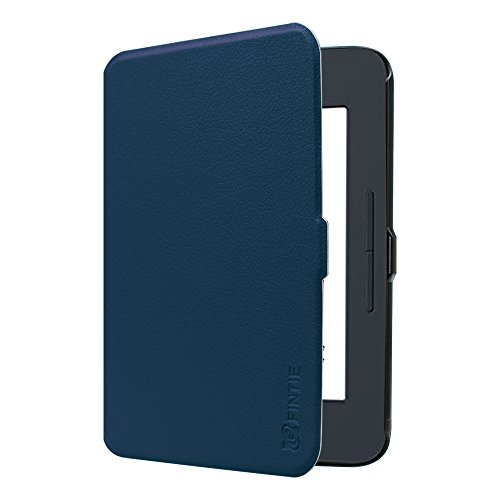 Fintie SlimShell Case for Nook GlowLight 3, Ultra Thin and Lightweight PU Leather Protective Cover for Barnes and Noble Nook GlowLight 3 eReader 2017 Release Model BNRV520, Navy