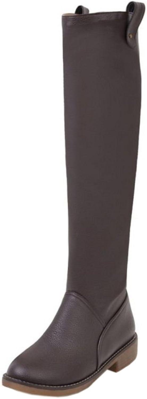 FANIMILA Women Fashion Pull On Long Boots Wide Calf