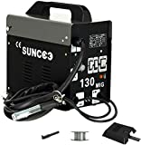 SUNCOO 130 MIG Welder Flux Core Wire Automatic Feed No Gas Little Welder...