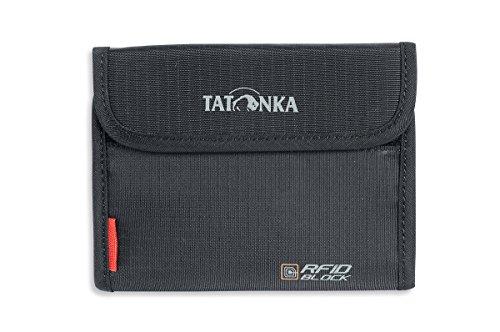 Tatonka Euro Wallet RFID B - Geldbörse mit TÜV-geprüftem RFID Blocker - Bietet Platz für 4 Kreditkarten - Mit Sichtfenster, Münzgeldfach und extra Reißverschlussfach - Schützt vor Datenklau