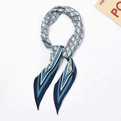 Yan Min Jian Cai Diamante bufanda bufanda femenina temperamento decorativo bufanda pequeña salvaje # 76 anillo caja azul 32x115cm
