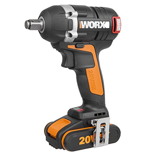 WORX WX279 18V 20V MAX Cordless Brushless Impact Wrench with 2 x 2Ah Battery