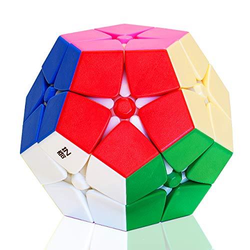 TOYESS Megaminx Cube 2x2 Stickerless, Dodecaedro Cubo Mágico, Paquete de Regalo de Juguete de Rompecabezas