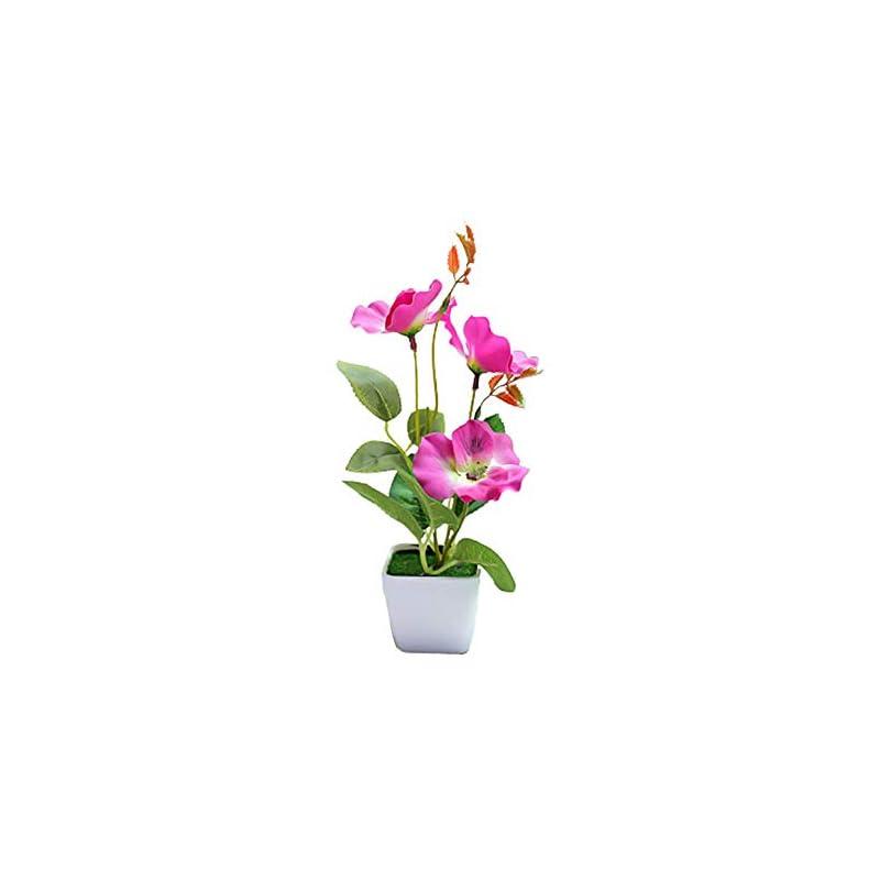 silk flower arrangements eamoney artificial flower plant plastic pot balcony plants, potted flowers fake plant bonsai garden table party room decoration purple pansy