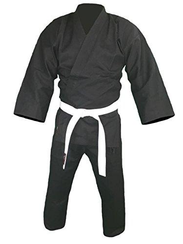 Karateanzug Bushido schwarz (130)