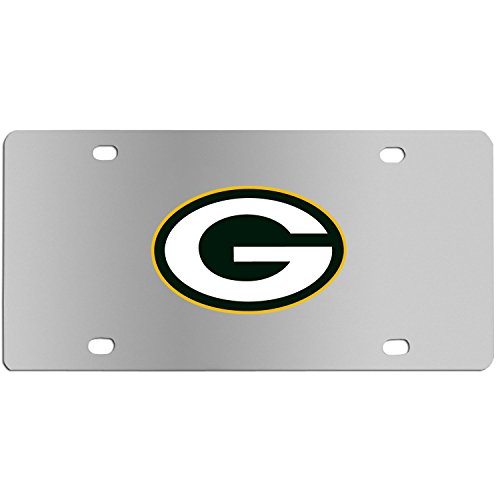 Siskiyou Sports NFL Green Bay Packers Steel License Plate with Digital Graphics