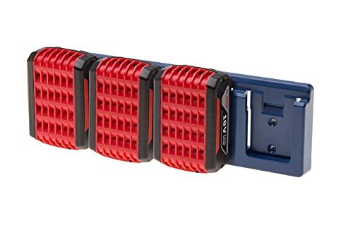 Akkuhalter für 18V MAKITA   BOSCH   FESTOOL   DEWALT   HILTI   MILWAUKEE   RYOBI   HIKOKI   AEG   48Tools Battery Holder   Akku Halterung 18Volt (BOSCH (dunkelblau))