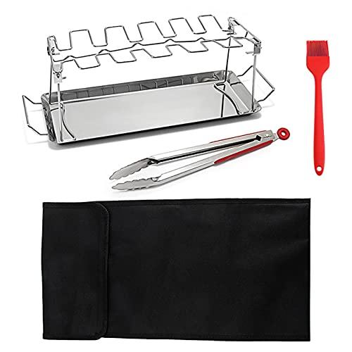 K-Park Soporte para baquetas de pollo para barbacoa con una bolsa de almacenamiento para cocinar perfecto y eficaz