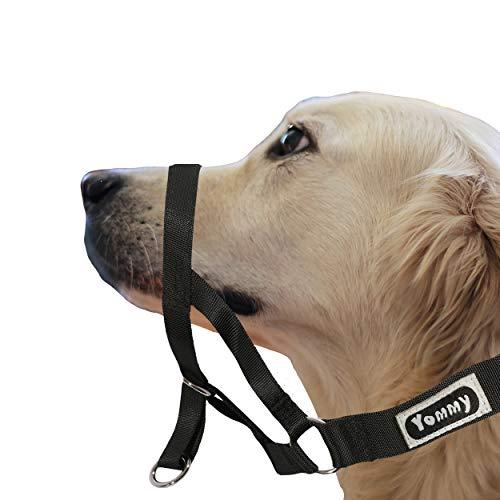 Yommy Arnés-Bozal para Perros Ajustable, Collar de Control con el bozal (XL 20-44CM)