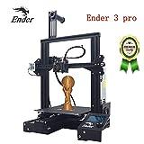 Stampante 3D Creality Ender 3 Pro Nuova versione, con superficie di costruzione magnetica e dispositivo di alimentazione certificato UL, Resume Print 220 × 220 × 250mm Kit di montaggio rapido
