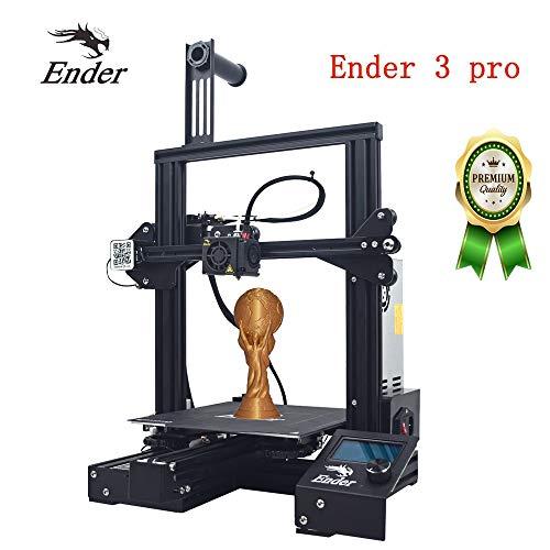 HICTOP Creality Imprimante 3D Ender 3 Pro, avec Surface de Construction magnétique et Dispositif d'alimentation certifié UL, Impression de Reprise, kit de Montage Rapide 220 × 220 × 250mm