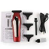 TIYKI Afeitadora eléctrica Cortadora de cabello eléctrica Cortadora de cabello con cabezal de aceite Cortadora de cabello Grabado Afeitadora USB con 3 peines de límite para peluque