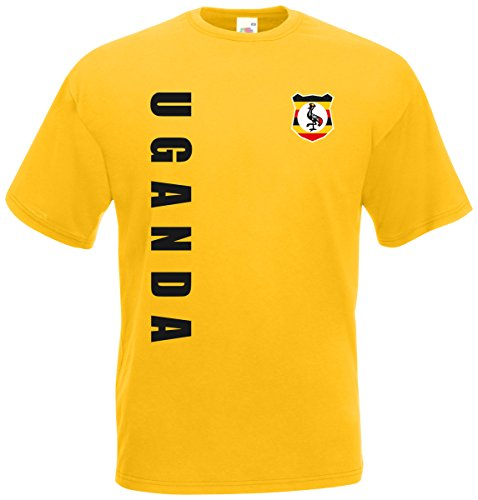 Uganda WM-2022 T-Shirt Trikot Wunschname Nummer Gelb L