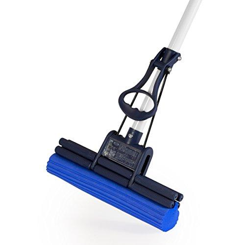 CleanAid OneTouch Easy Wischmopp, Bodenwischer, Wringmop - besonders saugstark - mit PVA Schwamm und Teleskopstiel (Onetouch Easy Wischer)