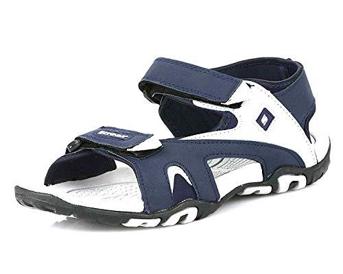 TRASE Strappy Blue Grey Sandals for Men - 9 UK