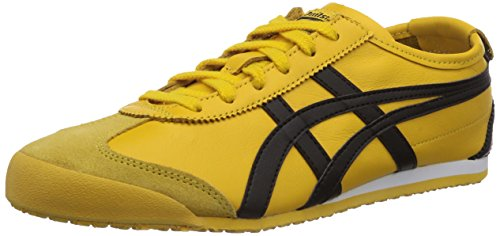 Onitsuka Tiger Mexico 66 - Zapatillas unisex, Amarillo (Yellow / Black 490), 40.5