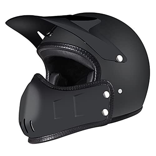 HBRE Casco Moto Integral,Certificado CE Integral Casco De Seguridad Resistente,Transpirable Ligero,para Downhill Enduro Dirt Bike Quad 57-62cm,XL
