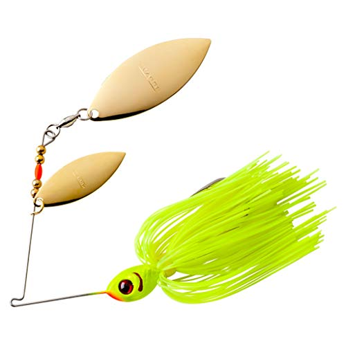 BOOYAH Blade Double Willow Chartreuse 3/8 Oz, One Size (BYBW38617)