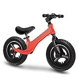 SHYSBV Bicicleta Sin Pedales Caminante con Andador Amortiguador Sin Scooter Sin Pie-Aleación De Magnesio Rojo_12