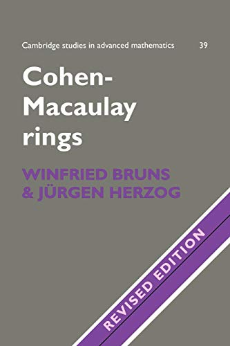Cohen-Macaulay Rings 2ed (Cambridge Studies in Advanced Mathematics, Band 39)
