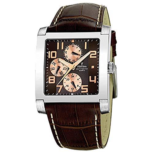Festina Herren-Armbanduhr braun UNI F16235-C