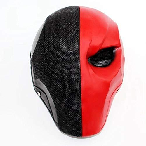 XWYWP Halloween Maske Helm Halloween Pfeil Saison Deathstroke Vollgesichtsmaske Cosplay Kostüm Requisiten Terminator Harz Helm Masken Rot