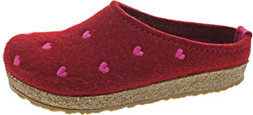 Haflinger Couriccini Grizzly, Unisex-Erwachsene Pantoffeln, Rot (Paprika 42), 39 EU