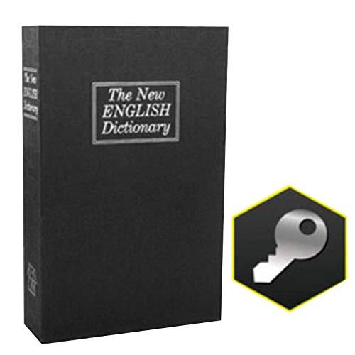 diirm Caja de almacenamiento para libros secretos con diseño de libro de simulación con cerradura para uso doméstico