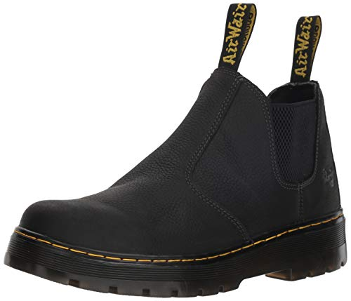 Dr. Martens Men's Hardie Boot, Black, 9 Regular UK (10 US)