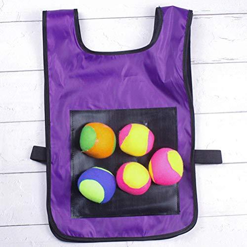 NNGT Völkerball Klebrige Weste Outdoor-Wurfspiel mit 5 Bällen für Kinder Kinder Outdoor-Aktivitätsspiel