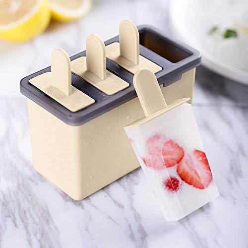 ZesNice Eisformen, 4 Stück EIS am Stiel Formen, Silikon Eisförmchen Popsicle Formen Set, Stieleisformer LGFB Geprüft und BPA Frei für Kinder, Baby, Erwachsene