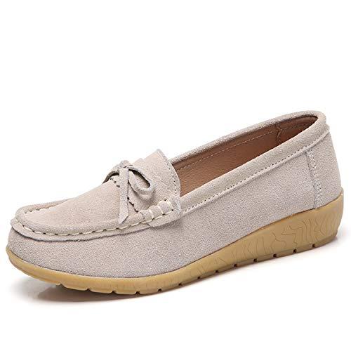 [Vocnako] レディース安全靴 ナースシューズ ウォーキングシューズ ダイエットシューズ 看護師 介護士 本革 厚底靴 履きやすい 疲れにくい 女性 用 作業靴 軽量 スニーカー 通勤 通学 アプリコット 24.5cm