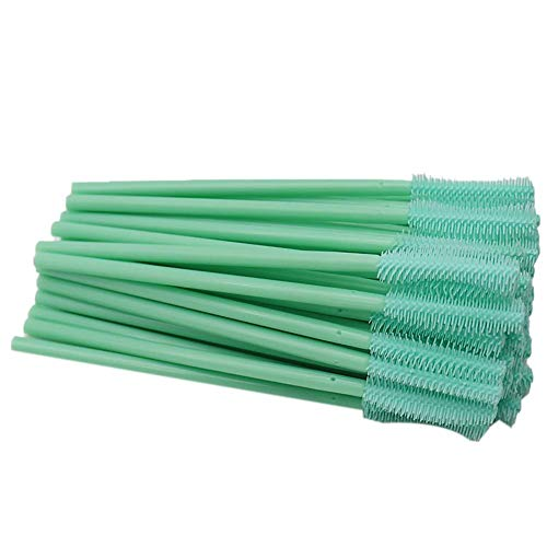 CyFe Lot de 50 baguettes à mascara, applicateurs de cils, outil de maquillage, pour extension de cils et soulèvement, A (vert)