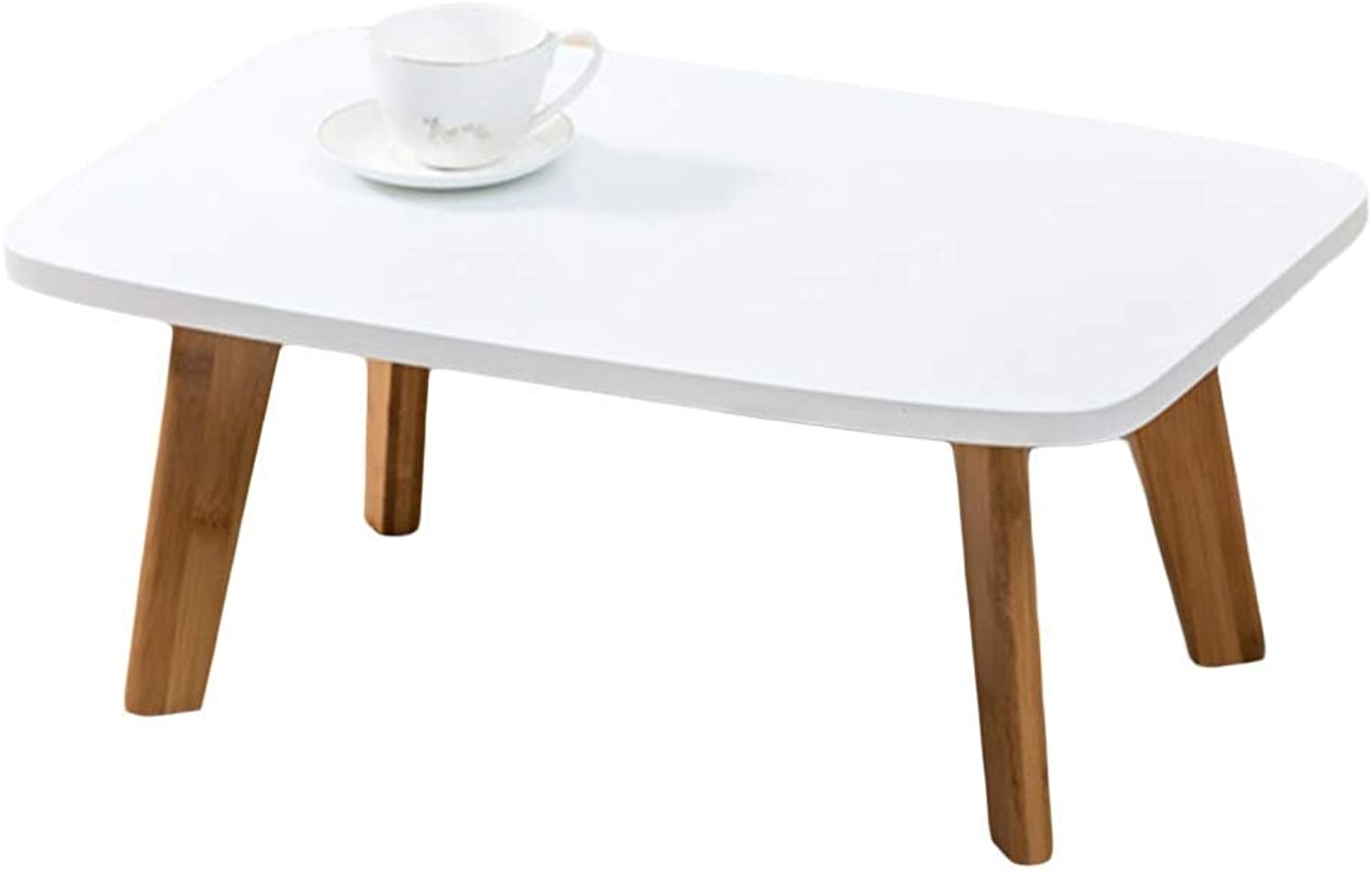 Folding Desk and Household White Table, Student Mobile Computer Lazy Table Bedroom Bed Notebook Table 60×40×24.8cm