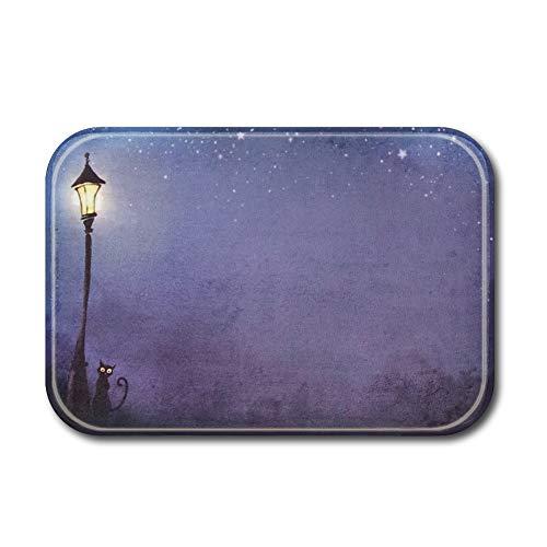 Sun & Home Custom personnalisé de porte Tapis Intérieur/ Tapis de salle de bain Décoration de la Maison Tissu non tissé antidérapant Tapis de sol, flanelle, Street Light, 15.7x23.6 inch