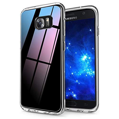 Ylife Kompatibel mit Samsung Galaxy S7 Hülle, Transparent Stoßfest, Anti-Gelb, Anti-Scratch Dünn Durchsichtige Schutzhülle TPU Silikon + Harter PC Handyhüllen für Samsung Galaxy S7 Hülle Crystal Clear