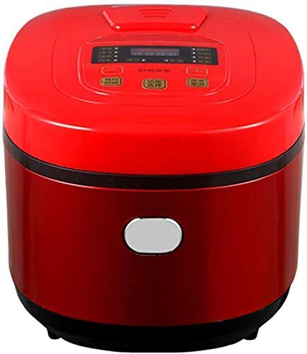 Programmierbarer Reiskocher digitaler Lebensmittel-Dampfer Multi 5l Niedrige Entfernung Zucker-Getreide-Maschine Smart Stew Edelstahl 24 Stunden Preset Sofort halten Sie warm